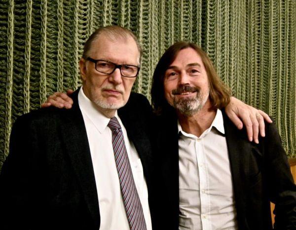 Su rusų dailininku N. Safronovu. 2012 m.