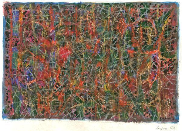 Miniatiūra. 1996. Popierius, aliejinės kreidelės
