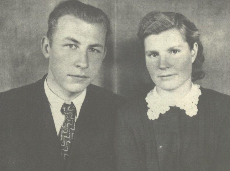 Broniaus sesuo Birutė su savo vyru Vytautu Surgailiu. 1958 m.
