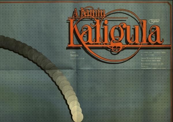 "Spektaklio ""Kaligula"" afiša."