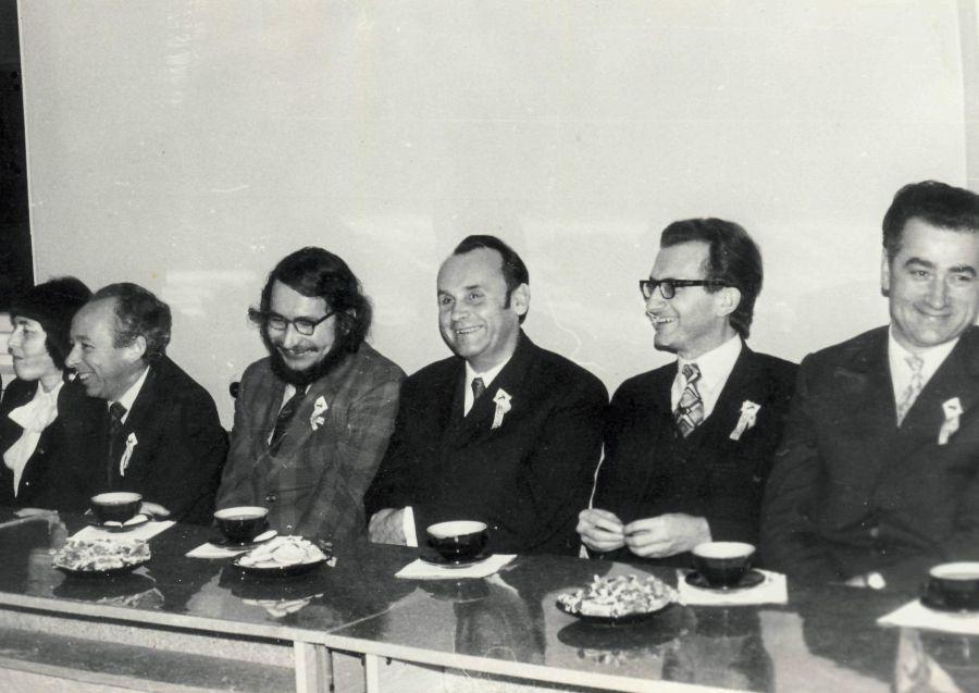Literatūrinio rudens renginys tuometiniame Vilniaus pedagoginiame institute. Apie 1980 m.