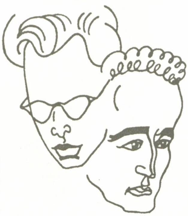 J. Raizmano ir V. Žalakevičiaus draugiški šaržai. Dail. S. Krasauskas.