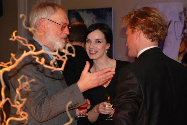 Su aktoriais V. Bičkute ir A. Paulavičiumi.