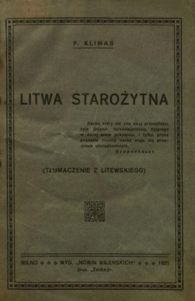 Litwa starożytna: tłumaczenie z litewskiego.