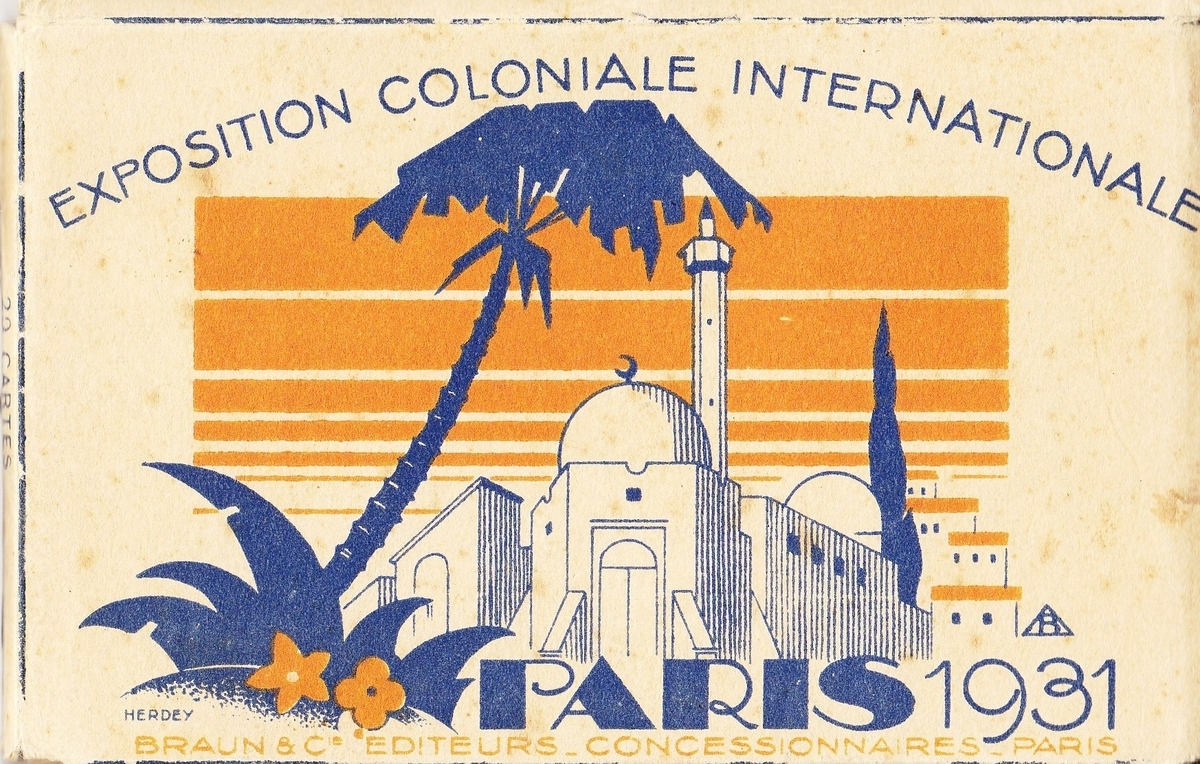 1931 m. Paryžiaus Kolonijinės parodos atvirukų komplekto viršelis.<br /> Geršono Taico asmeninė kolekcija.