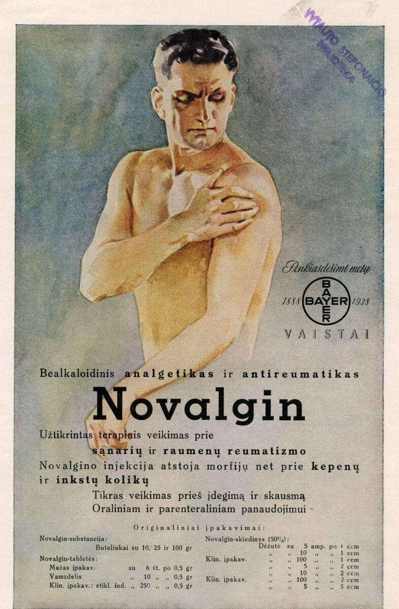 """""""Novalgin: bealkaloidinis analgetikas ir antireumatikas..."""""""