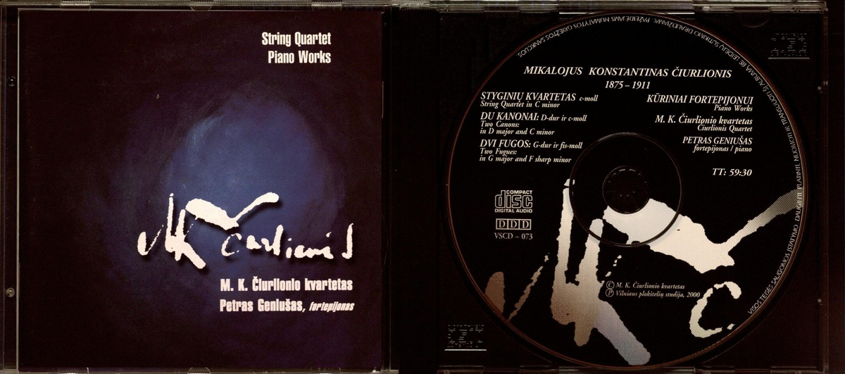 String quartet [Garso įrašas] ; Piano works
