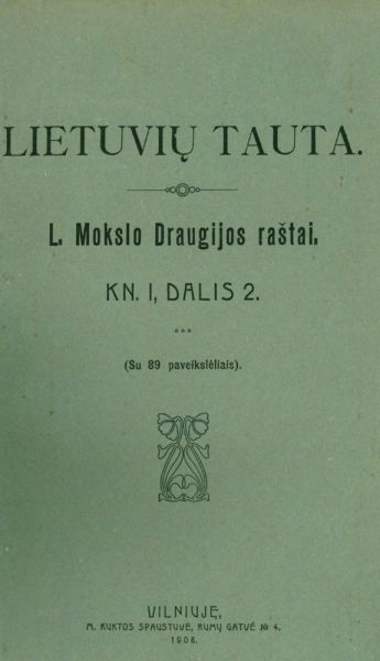Lietuvių tauta. Kn. 1, d. 2.