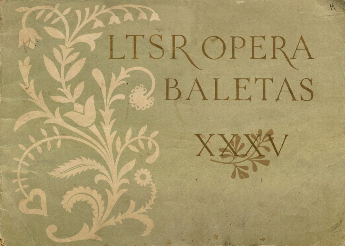 Lietuvos TSR valstybinis akademinis operos ir baleto teatras, 1920-1955