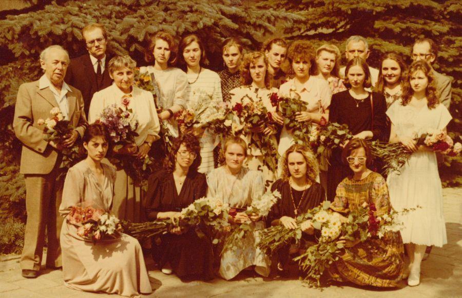 Lituanistų-pedagogų laida su dėstytojais. 1991 m.