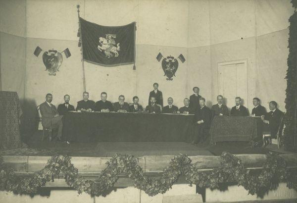 Lietuvos atstovų konferencijos Vilniuje dalyviai. 1918 m. rugsėjo 18–22 d.
