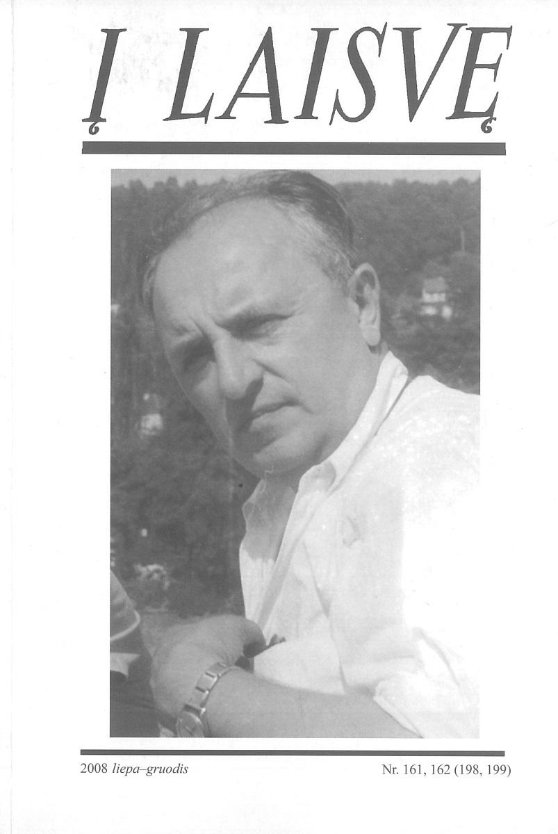 """Paskutinis """"Į laisvę"""" numeris, 2008 m., 161–162 (198, 199). Viršelyje – Zenonas Ivinskis."""