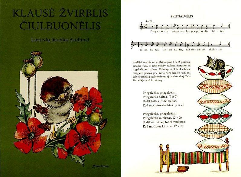 Klausė žvirblis čiulbuonėlis : lietuvių liaudies žaidimai.  Vilnius : Vyturys, 1986.  64 p.