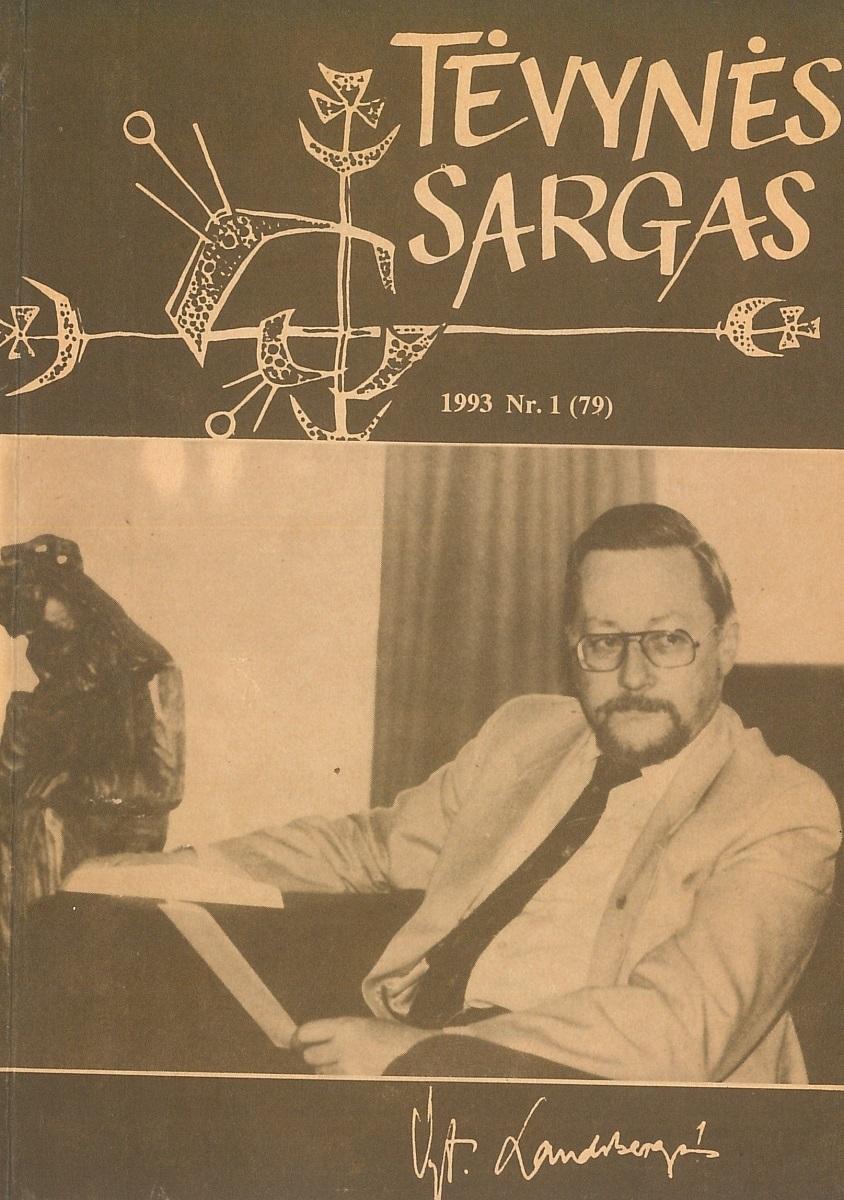"""Lietuvoje leisto """"Tėvynės sargo"""" viršelis, 1993 m., Nr. 1"""