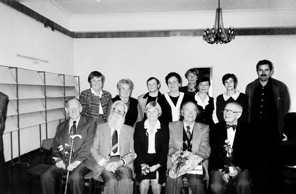 """Knygos """"Lietuvos gyventojų genocidas"""" II leidimo pristatymas Lietuvos genocido centre. 1999-ųjų spalis."""
