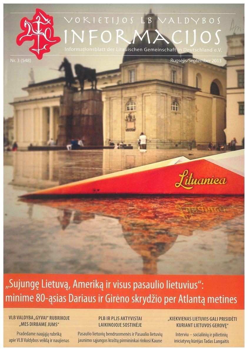 """""""Informacijų"""" viršelis. 2013 m. rugsėjis, Nr. 3"""