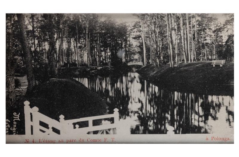 Tvenkinys priešais grafo F. T. rūmus, apie 1903 m.