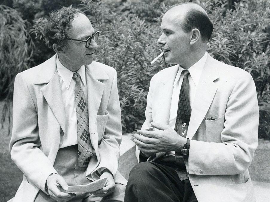 Paulius Jurkus ir Bernardas Brazdžionis.
