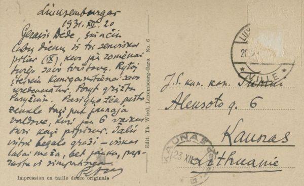 Liuksemburgas (Lëtzebuerg). 1931 m.