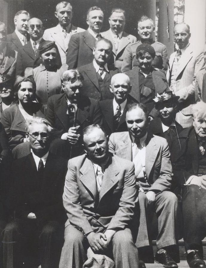 """K. Grinius """"Kovos su džiova"""" draugijos sanatorijoje. Apie 1936 m."""