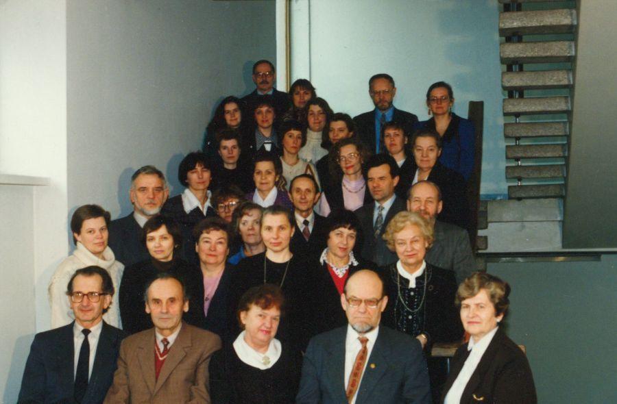 Lituanistikos fakulteto kolektyvas. 1995 m.