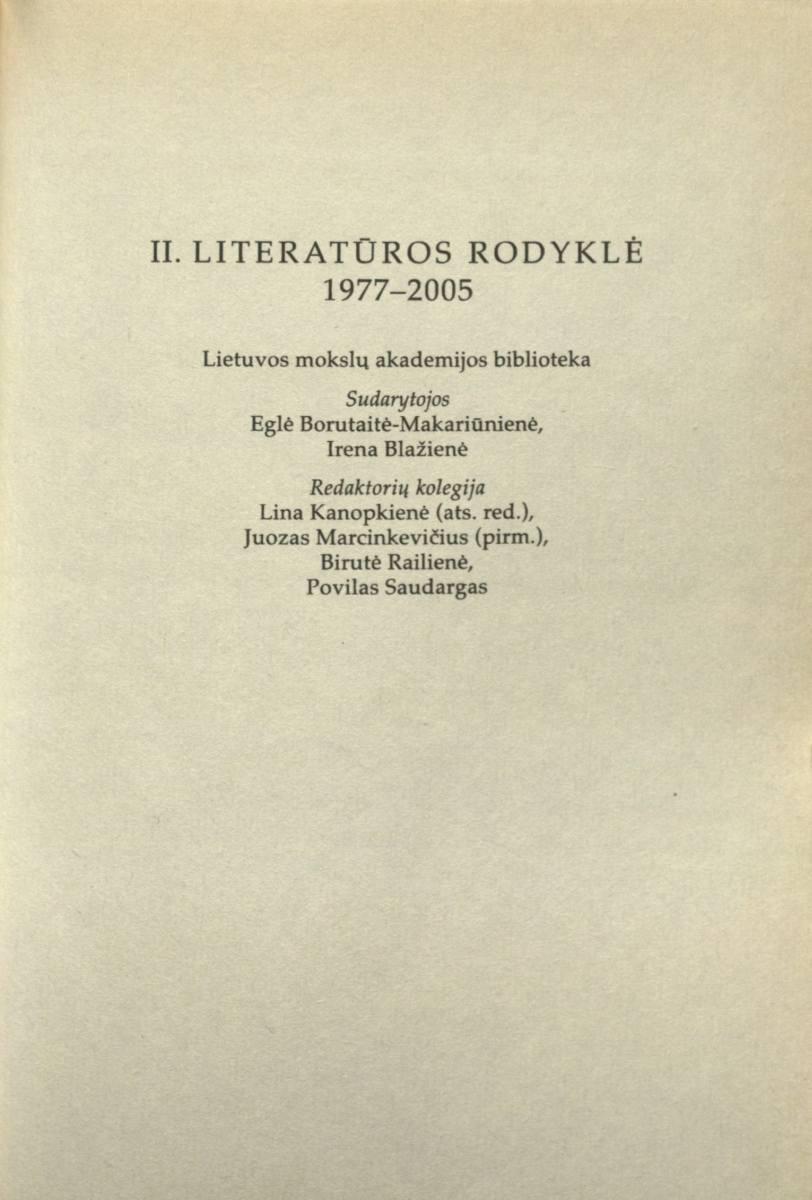 Literatūros rodyklė (1977–2005)