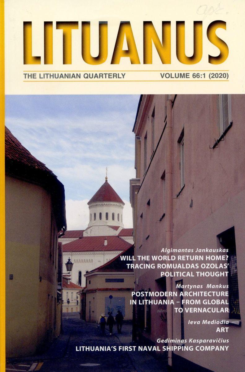 """Lituanus"" viršelis, vol. 66, no. 1 (2020)"