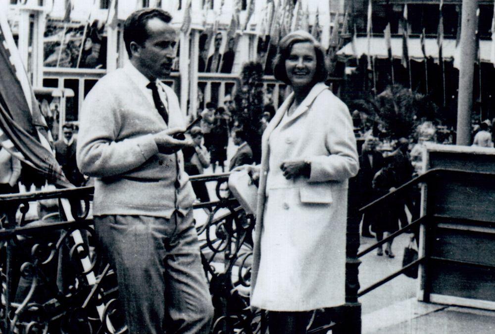 Su žmona Gražina Karlovy Varuose (Čekija). 1966 m.