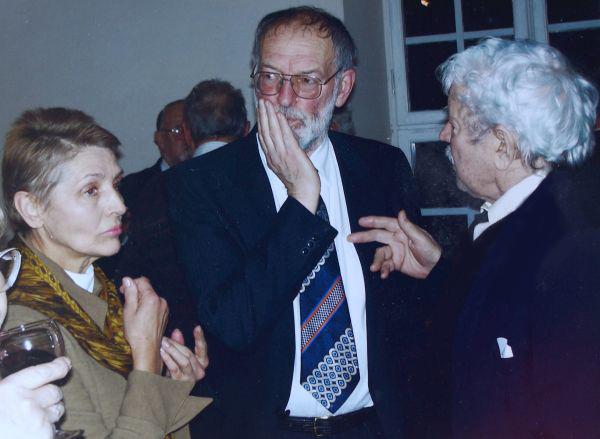 R. Adomaičio 70-mečio minėjimas Lietuvos teatro, muzikos ir kino muziejuje. 2007 m., Vilnius.
