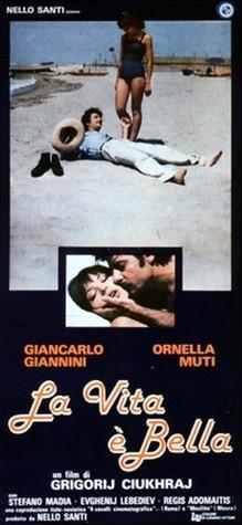 """Filmo """"Gyvenimas puikus"""" plakatas."""