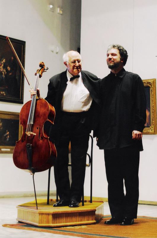 M. Rostropovičius ir P. Geniušas