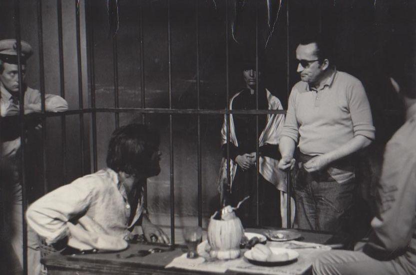 """V. Žalakevičius """"Visa teisybė apie Kolumbą"""" filmavimo metu. Apie 1970 m."""