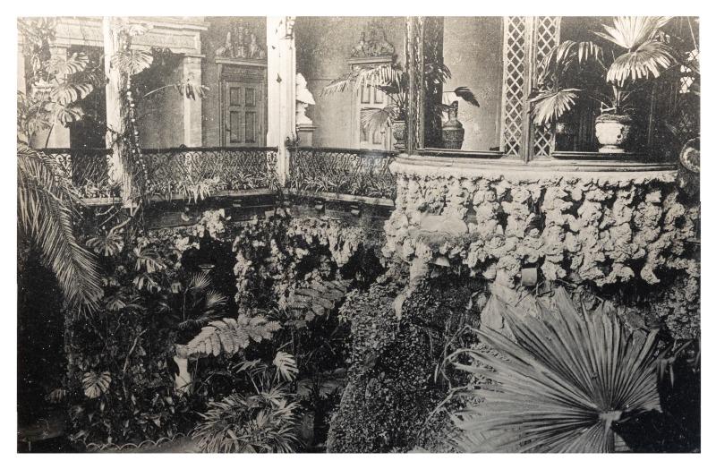 Kretingos dvaro rūmų žiemos sodas, maždaug XX a. pradžia.