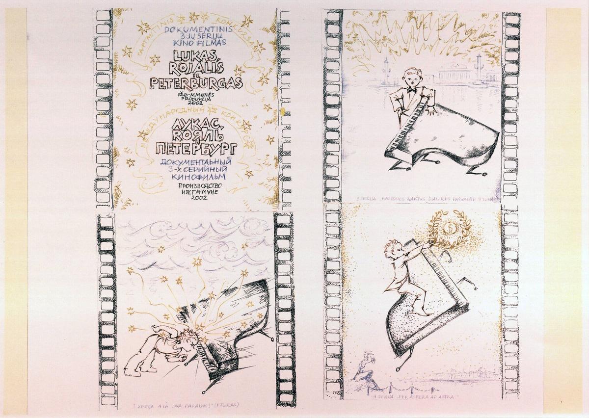 """""""Dokumentinis 3 serijų kino filmas Lukas, rojalis ir Peterburgas"""". 2002 m."""