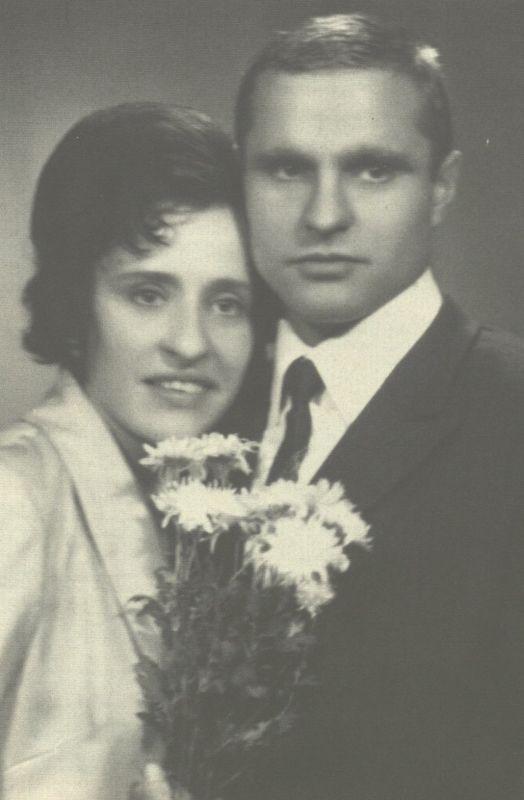 Pirmosios dienos po vestuvių. Bronius ir Genė Radzevičiai. 1972 m., Vilnius.