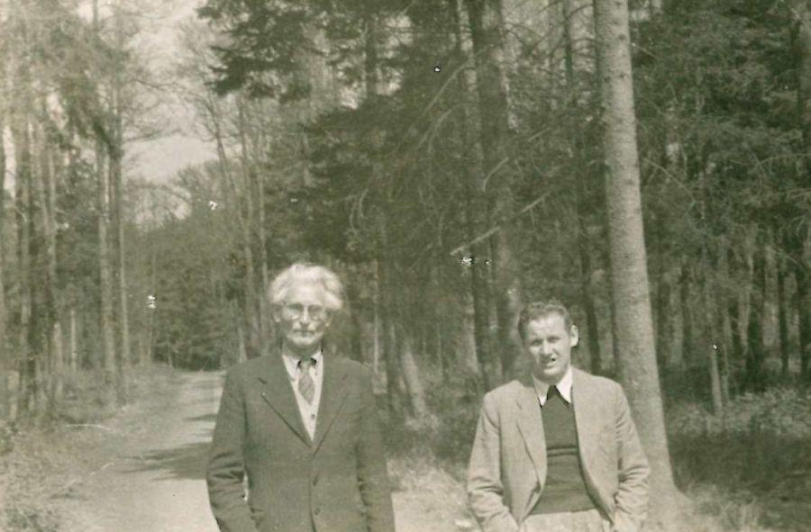 K. Grinius su sūnumi Kaziu Vokietijoje. Muna bei Dieburgas, 1946 m.