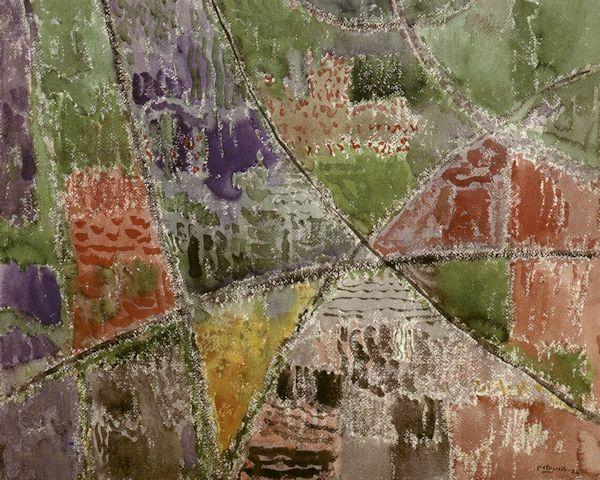 Vasaros lietus. 1985. Popierius, akvarelė