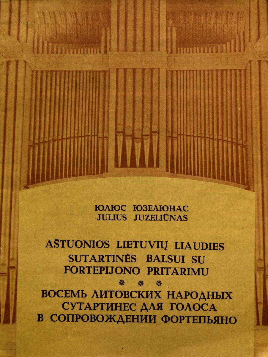 Aštuonios lietuvių liaudies sutartinės balsui su fortepijono pritarimu