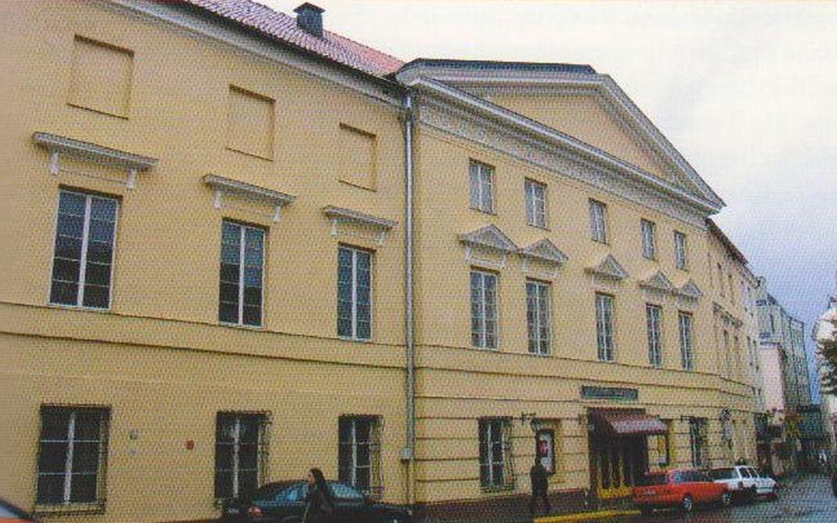 Oginskių rūmai Vilniuje (pastato fasadas iš Arklių gatvės pusės)