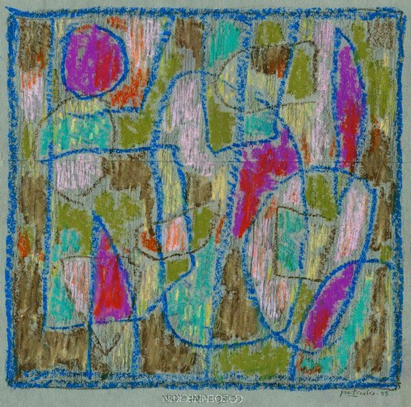 Miniatiūra. 1995. Popierius, aliejinės kreidelės