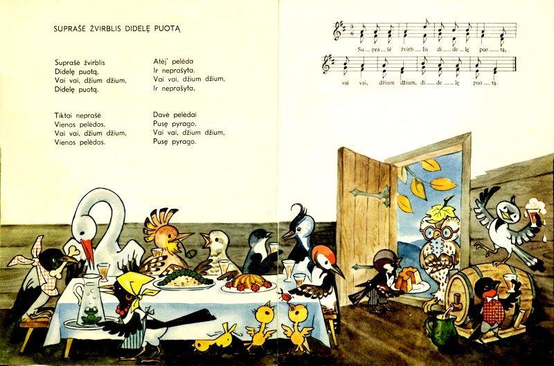 "Iliustracija knygelei ""Ganau ganau aveles"". Vilnius : Vaga, 1968."