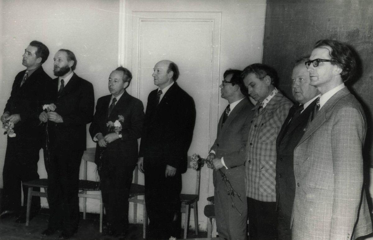 Tuomečio Lietuvių kalbos ir literatūros fakulteto dėstytojų kolektyvas. 1978 m.
