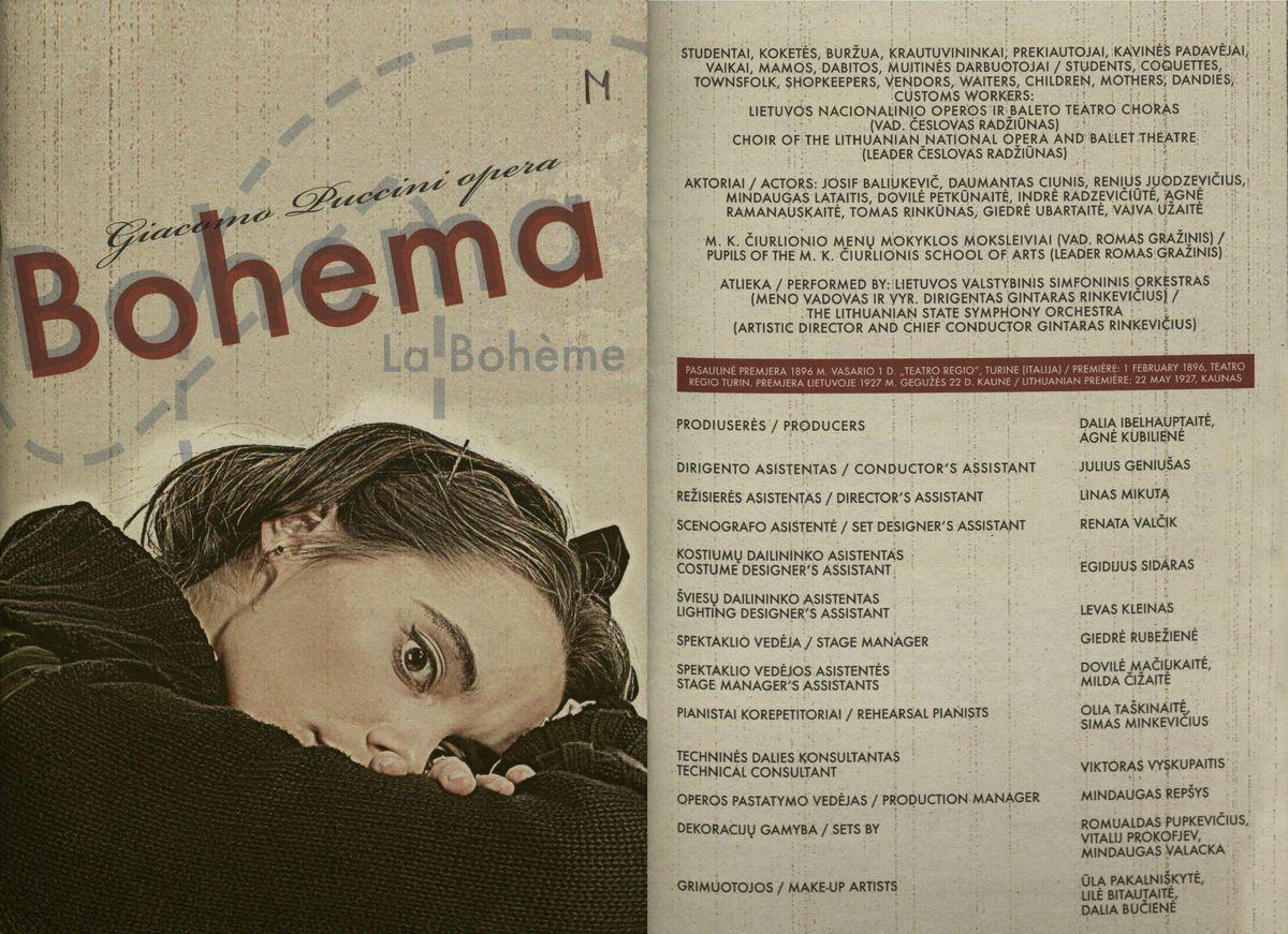 "Giacomo Puccini opera ""Bohema"" : [programa] 2006 m."