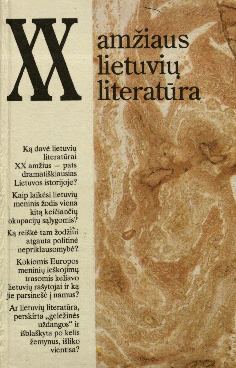 XX amžiaus lietuvių literatūra. Vilnius, 1994.