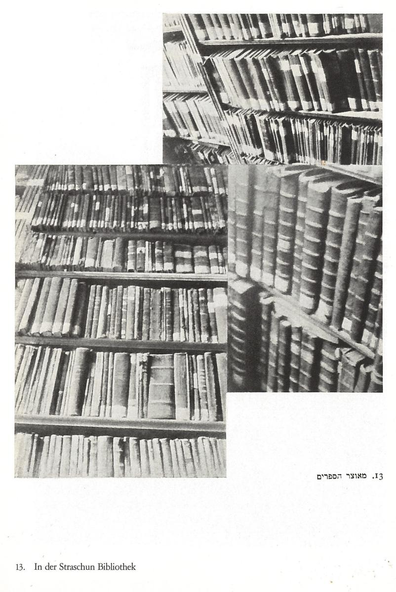 """Strašuno bibliotekos pastatas. <br /> Nuotrauka iš Mozės Vorobeičiko knygos """"Ein Ghetto im Osten. Wilna"""" (vok. Žydų kvartalas Rytų Europoje. Vilnius). Ciurichas ir Leipcigas, Orel Füssli leidykla, 1931."""
