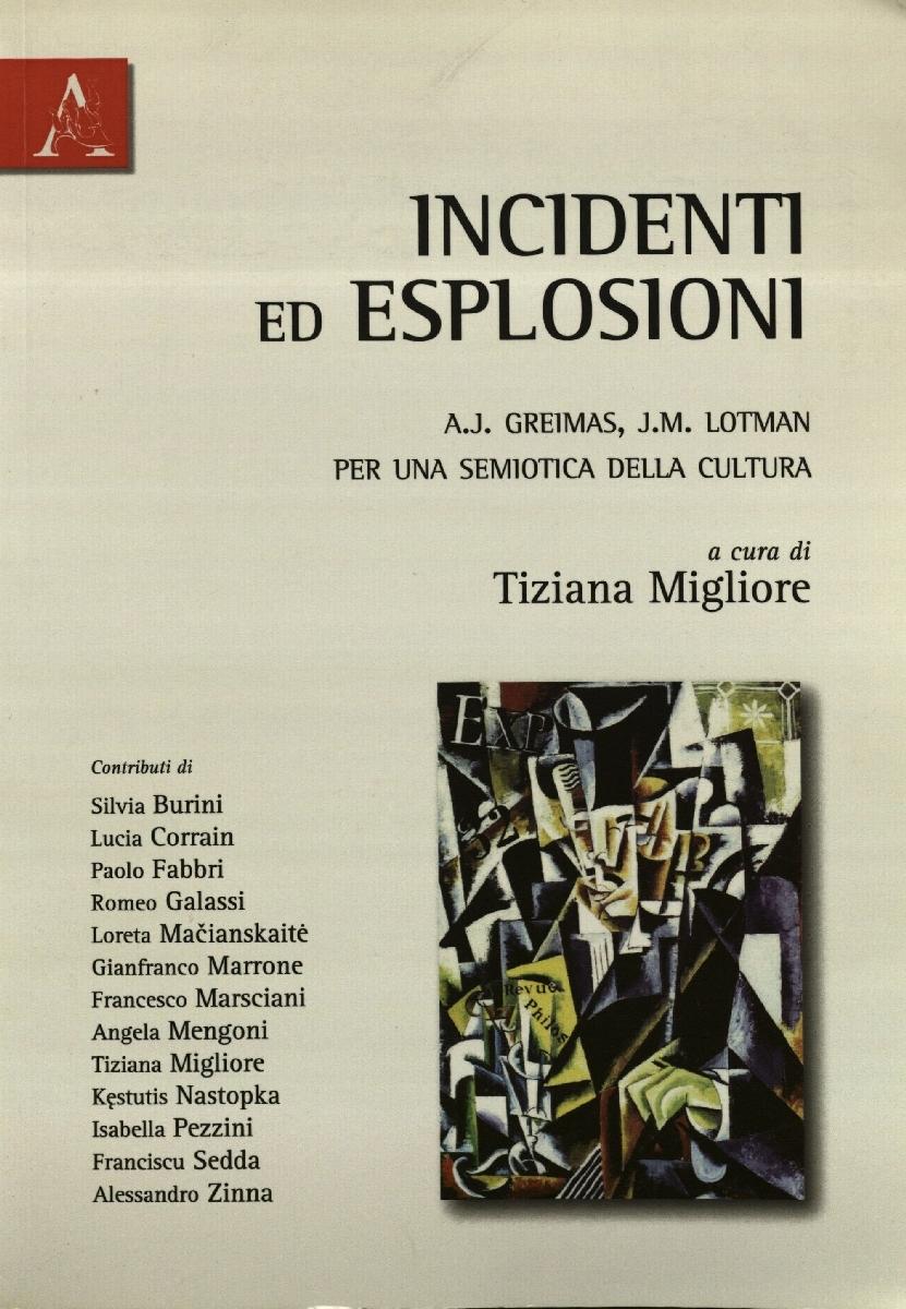 Incidenti ed esplosioni: A. J. Greimas, J. M. Lotman per una semiotica della cultura. Roma, 2010.