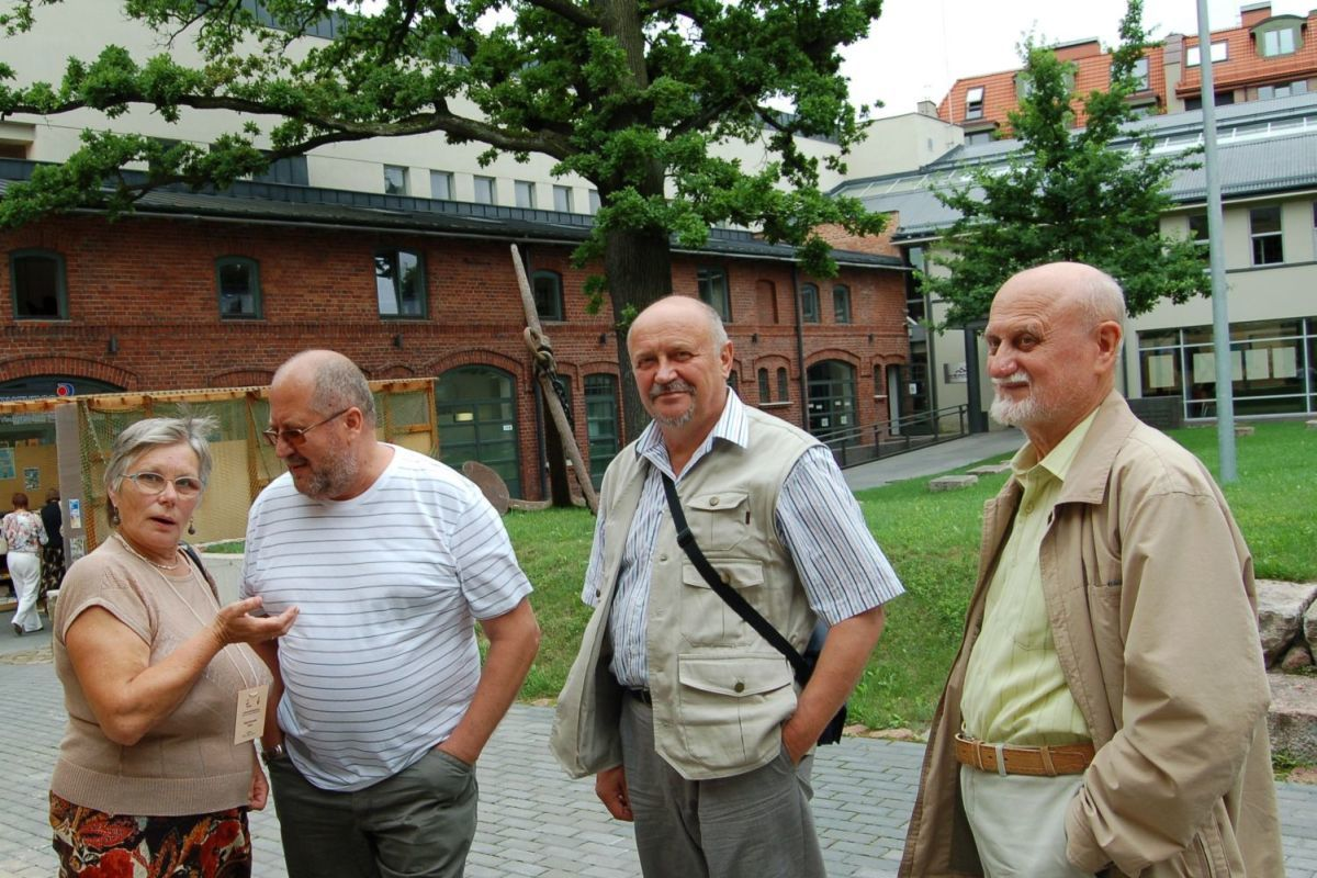 Alma Karosaitė, Romualdas Skunčikas, Rimantas Černiauskas. Klaipėda, 2010