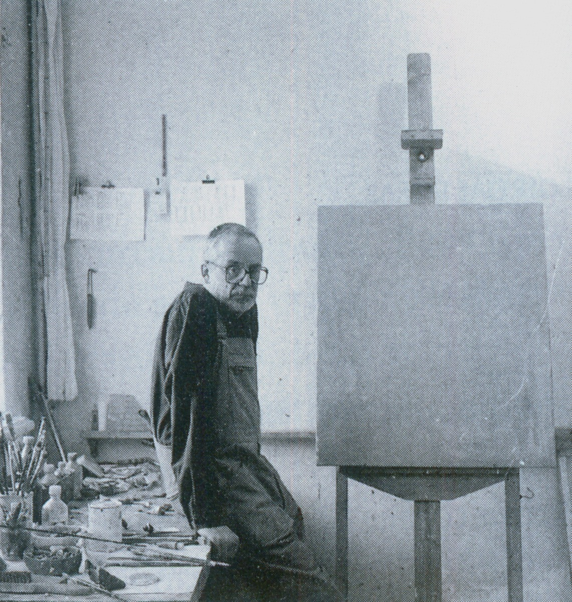E. A. Cukermanas savo dirbtuvėje, XX a. 10-tas dešimtmetis