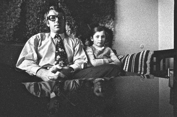 Aktorius V. Tomkus su dukra Dovile. 1973 m.