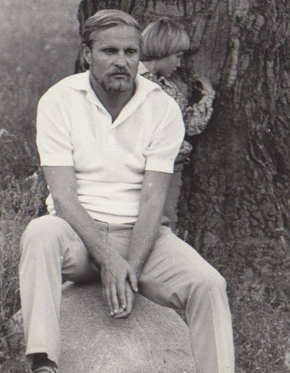 Bronius Radzevičius su sūnumi Kostu. 1979 m., Vilnius.